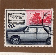 REP  DU  MALI  -- PEUGEOT  1893 ::::::: PEUGEOT  404.....1969.  --  **  90  F. **  --  POSTE 1969  --  BEG - Mali (1959-...)