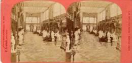 PARIS - Exposition Universelle 1878 - Photo Stéréo -  Galerie Des Beaux Arts (Section Italienne)  Neurdein  (PH  232) - Personnes Anonymes
