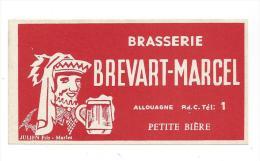 Etiquette De Petite  Bière  -   Brasserie Brévart Marcel  à  Allouagne  (62) - Bier
