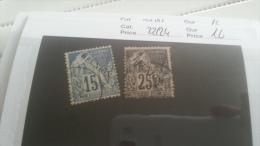 LOT 219885 TIMBRE DE COLONIE REUNION OBLITERE N�22/24 VALEUR 16 EUROS
