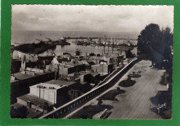 50 GRANVILLE   Le Square Lecarpentier Et Le Port Vue Par Dessus-les Toits  CPSM GFDentellée Année 1960 - Granville