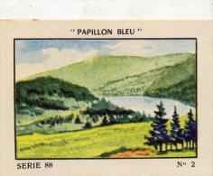 IMAGE FLAN PAPILLON BLEU Serie 88 BLES VOSGES LE LAC BLANC (LOT 09) - Otros