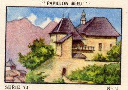 IMAGE FLAN PAPILLON BLEU Serie 73 ALBERTVILLE LE CHATEAU ROUGE (LOT 09) - Sonstige