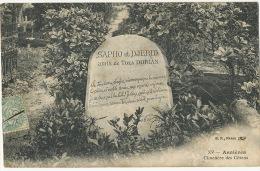 Tomb Of Tola Dorian ( Kapitolina Mestcherskaia Briansk) Dogs Asnieres Poet Married Charles Dorian  Deputé Loire - Russia