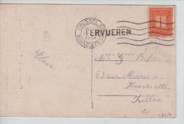 TP 108 S/CP C.méc.Bruxelles Nord + Griffe Tervueren En 1914 PR1074 - Postmark Collection