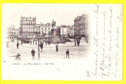 * Lille - Rijsel (Dép 59 - Nord - France) * (ND Phot, Nr 24) La Place Richebé, Animée, Rare, TOP, Old, CPA, Statue - Lille