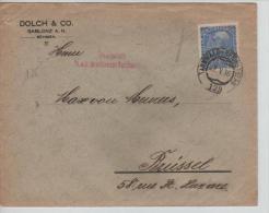 Austria (Böhmen) Cover Tannwald-Reichenberg 1916 Censored To Belgium PR1078 - 1850-1918 Empire