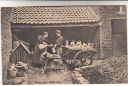 Vlaamse, Vlaamsche Melkvrouw, Attelage De Chien, Honderkar (pk14061) - Attelages