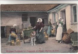 Belgique Laitières, Préparatifs De Départ, Beptème Du Lait, Attelage De Chien, Honderkar (pk14062) - Attelages