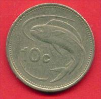 F4345 / - 10 Cent - 1986 - Malta Malte - Coins Munzen Monnaies Monete - Malta