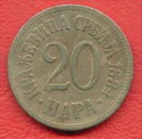 F4379 /- 20 PARA - 1884 - Serbia Serbien Serbie Servie -  Coins Munzen Monnaies Monete - Serbia