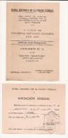 EVA PERON - 1953 CONCIERTO BANDA SINFONICA POLICIA FEDERAL Teatro Marconi - Incluye Invitacion PALCO - Programs