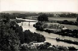 Val D´ Oise - P 563 -  Auvers Sur Oise - Le Pont De Chaponval  - Ponts - Peniche - Peniches - Carte Bon Etat - - Auvers Sur Oise