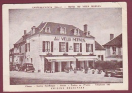 58 - 290814 - CHATEAU CHINON - HOTEL DU VIEUX MORVAN - Commerce Automobile - Chateau Chinon