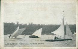 VOILE - Les Sports - Yachting à Voile En Rivière (PUb AUX GALERIES D'ORLEANS, Spécialité De Fournitures Modes Coutures) - Voile