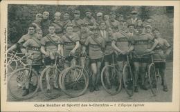 CYCLISME - Cycle Routier Et Sportif Des 4 Chemins - L'Equipe Cycliste ( BELLE SCENE De GROUPE!) Trintignac, Aubervillier - Cyclisme