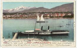 """Geneve  Rade Et Mont Blanc   Bateau Aube """" Winkelried """"  2238 Rue Du Stand Vers Travagliato Brescia - GE Genève"""
