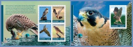 ugn14303ab Uganda 2014 Bird Watching Falcons Eagle 2 s/s