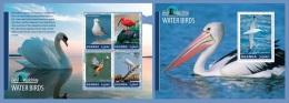 ugn14305ab Uganda 2014 Bird Watching Water birds 2 s/s