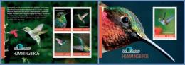 ugn14307ab Uganda 2014 Bird Watching Hummingbirds 2 s/s