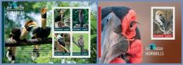 ugn14308ab Uganda 2014 Bird Watching Hornbills 2 s/s
