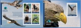 ugn14309ab Uganda 2014 Bird Watching Eagles 2 s/s