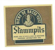 Etiquette De Bière   -  Stammpils   -  Brasserie De Basse Yutz  (57) - Bier