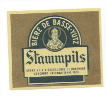 Etiquette De Bière   -  Stammpils   -  Brasserie De Basse Yutz  (57) - Birra
