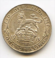 """** 1 Shilling Argent """" George V """" 1915    XF - 1902-1971 : Monnaies Post-Victoriennes"""