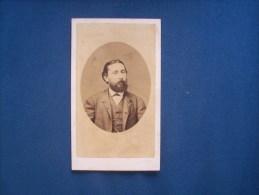 Photo CDV Grillet  à Naples -  Portrait Homme Avec Barbe Circa 1870  L161 - Antiche (ante 1900)