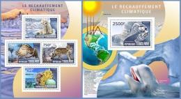 tg14403ab Togo 2014 Global warming 2 s/s Polar Bear Owl Whale