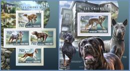 tg14405ab Togo 2014 Dogs 2 s/s