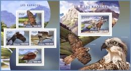 tg14410ab Togo 2014 Birds of Prey 2 s/s