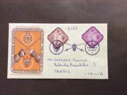 SPORT SCHERMA COLOMBIA CAMPIONATO SUD AMERICANO DI SCHERMA 1957  VIAGGIATA CON ANNULLO SPECIALE - Escrime