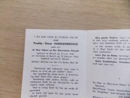 Doodsprentje Freddy Omer Vanslembrouck Wervik 10/6/1945 Burcht 12/2/1965 ( Z.v. Robert En Marie Louise Ramault ) - Religion & Esotericism