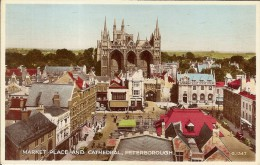 PETERBOROUGH-MARKET PLACE AND CATHEDRAL - England