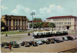 Mulhouse Entrée De Ville Et Nouvelle Poste Principale - Voiture Ancienne Bus - Mulhouse