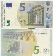 2014 EURO NOTE BANCONOTA BILLET DA 5 EURO SC ITALIA ITALY S003.. FDS UNC DRAGHI APPENA EMESSA - 5 Euro