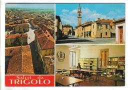 CPSM TRIGOLO (Italie-Lombardie) - 3 Vues : Rue Rome, Bibliothèque, Vue Générale - Other Cities