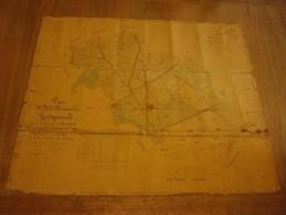 plan de la for�t domaniale de Hertogenwald - Membach (Spa 10 d�cembre 1870)
