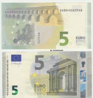 2014 EURO NOTE BANCONOTA BILLET DA 5 EURO SD ITALIA ITALY S003.. FDS UNC DRAGHI APPENA EMESSA - EURO