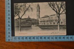 1902 FERRARA  PORTOMAGGIORE  La Piazza Bella Veduta  Viaggiata - Ferrara