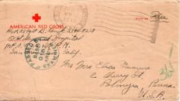 ETETS UNIS LETTRE MILITAIRE CROIX ROUGE CENSUREE AVEC SA CORRESPONDANCE 1945 - Postal History
