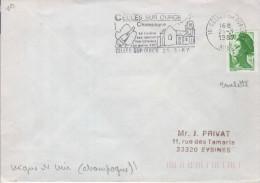 """Lettre VINS 10 Celles Sur Ource 21-3 1987 Flamme =o """"  Celles Sur Ource Champagne...."""" - Wein & Alkohol"""