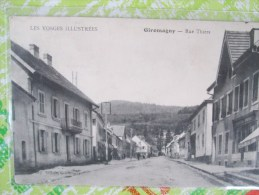 GIROMAGNY RUE THIERS  TRES BEAU CACHET MILITAIRE - Giromagny