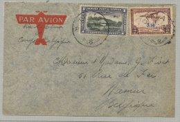 Opala (orientale, Stanleyville) : PA2 et PA17 sur lettre exp�di�e vers Namur le 3 d�cembre 1937