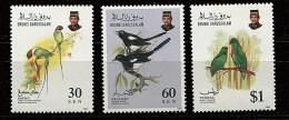 Brunei ** N° 460 à 462 - Oiseaux (II) - Brunei (1984-...)