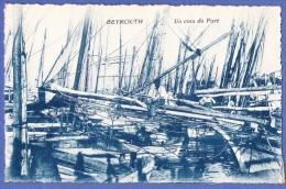 Cpa LIBAN,BEYROUTH,Un coin du port