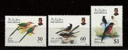 Brunei ** N° 463 à 465 - Oiseaux (II) - Brunei (1984-...)