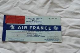 billet air france classe tourisme Paris Venise 10 juillet 1953